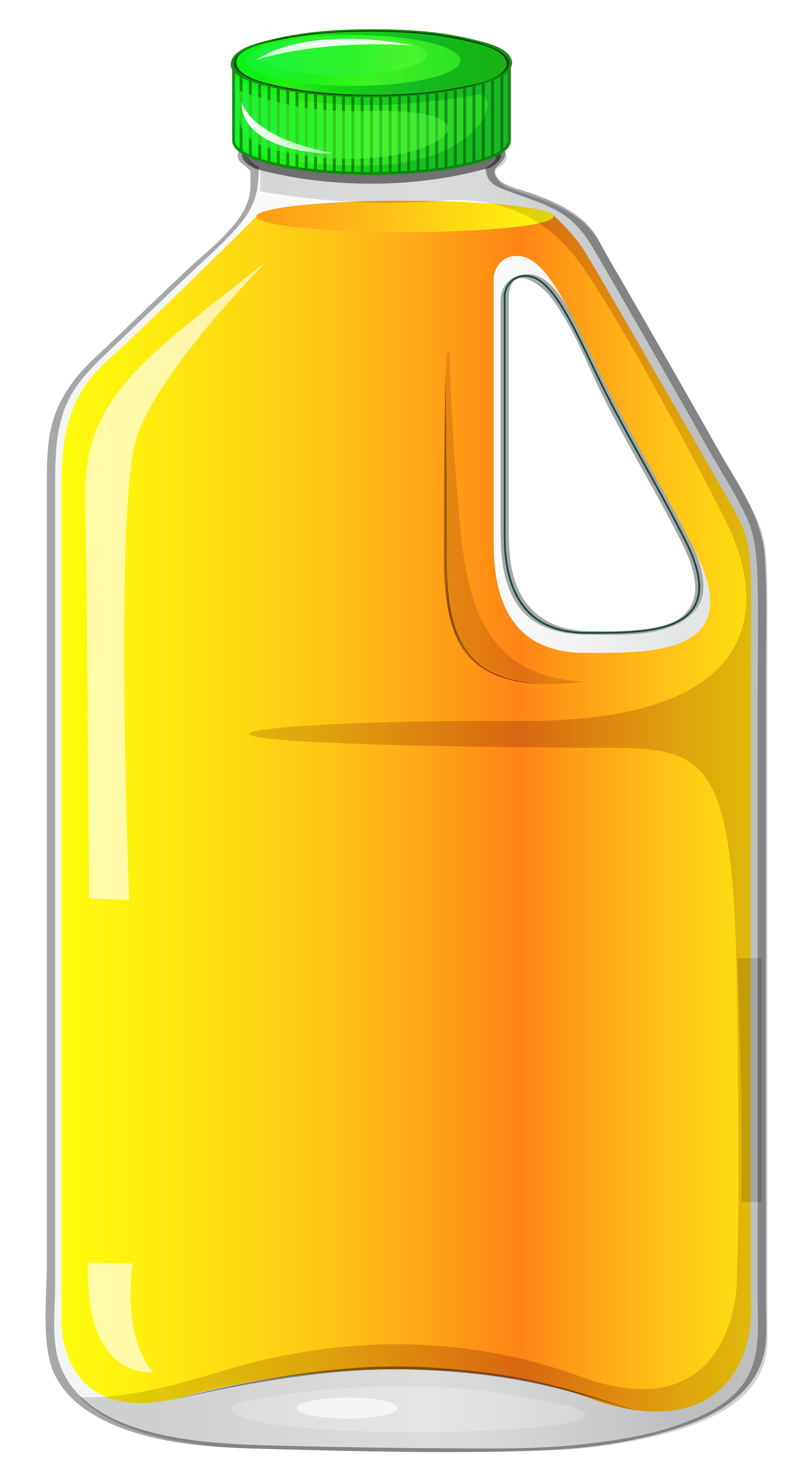 Juice clipart juice container. Large bottle with orange
