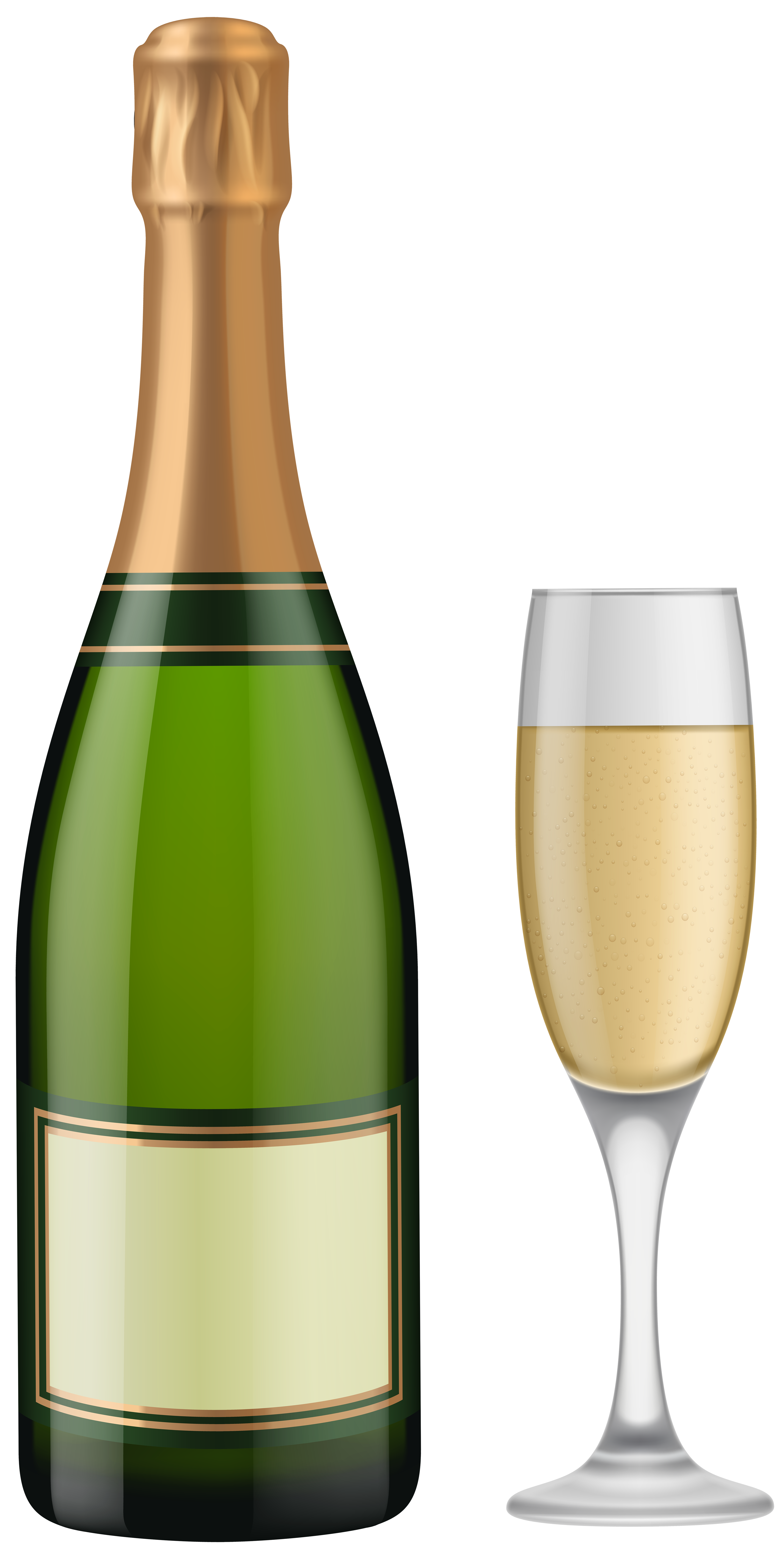 Png champagne bottle. And glass clip art
