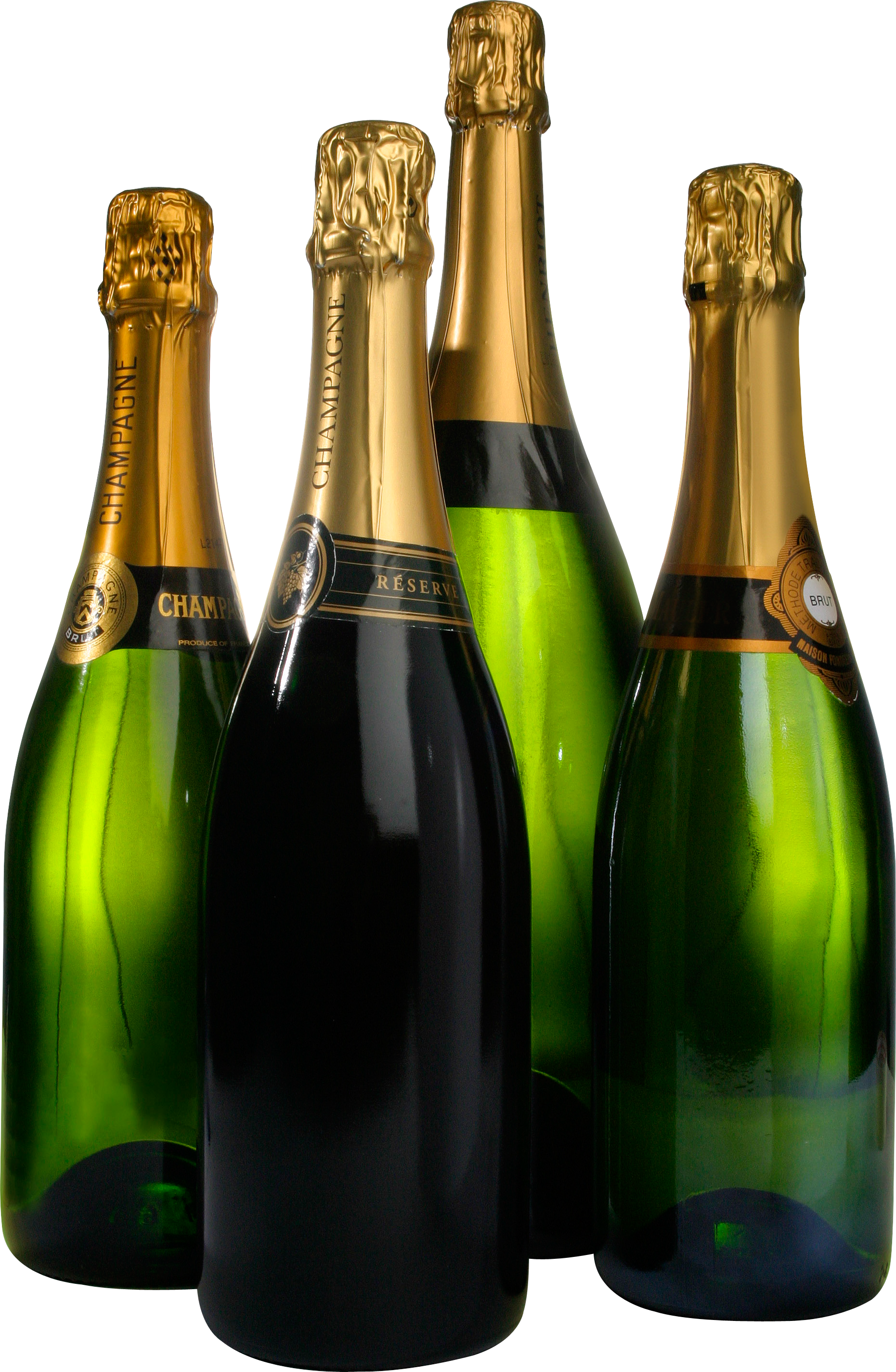 Champagne bottles png. Sparkling wine from a