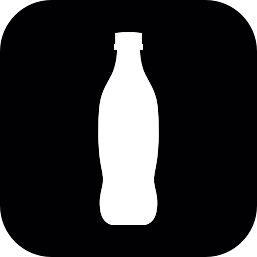 Bottle silhouette png. Inside a rounded square