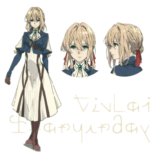 Bougainvillea drawing violet evergarden. Anime reveals character designs
