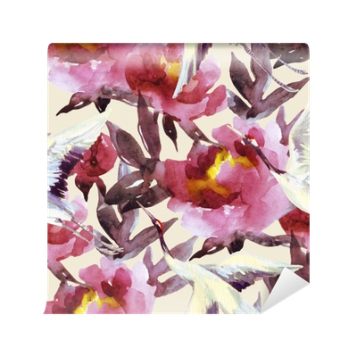 Bougainvillea drawing watercolor. Hand painted peonies and