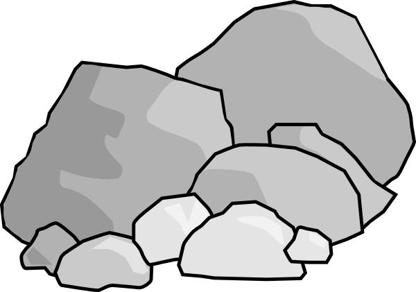 Boulder clipart animated. Pencil and in color