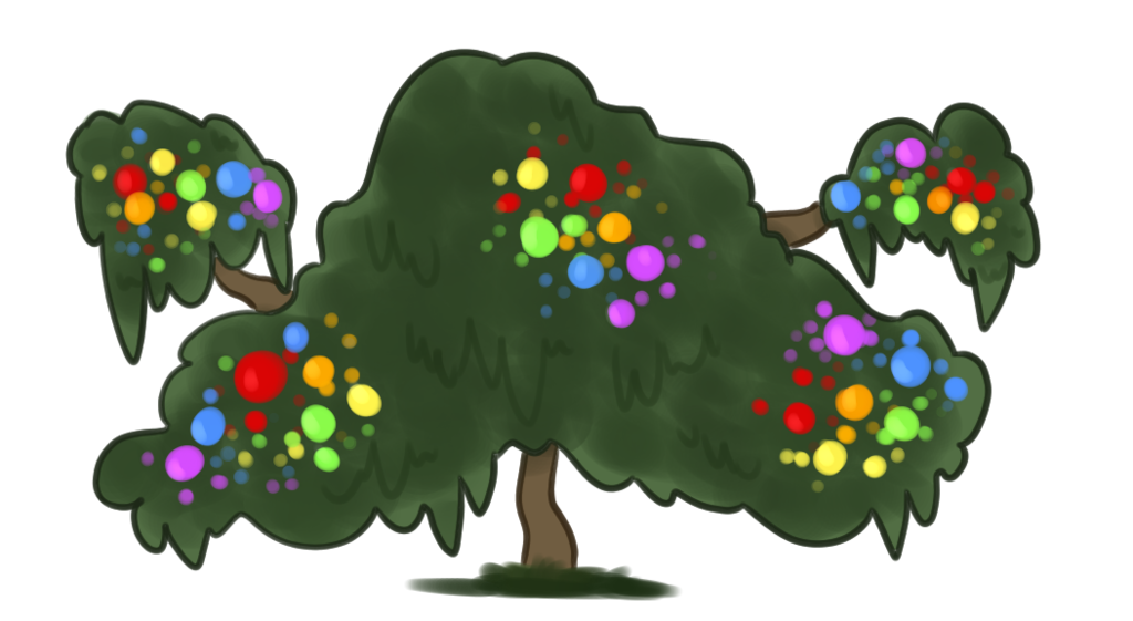 Boulder drawing bush. Paintberry by darkdarkdragons on