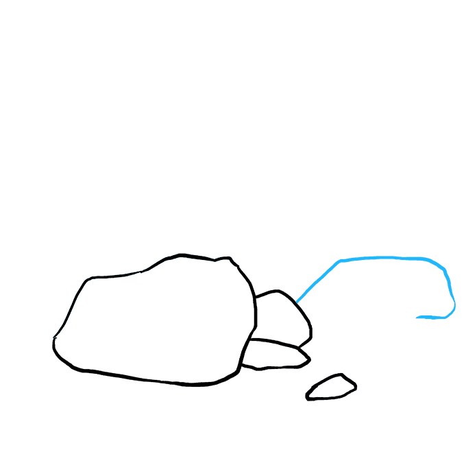 Boulder drawing ground. How to draw rocks