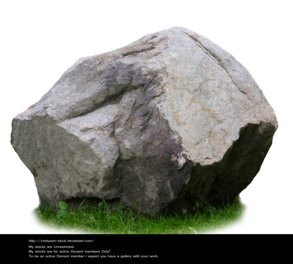 Boulder drawing grass. Stone stock by cindysart