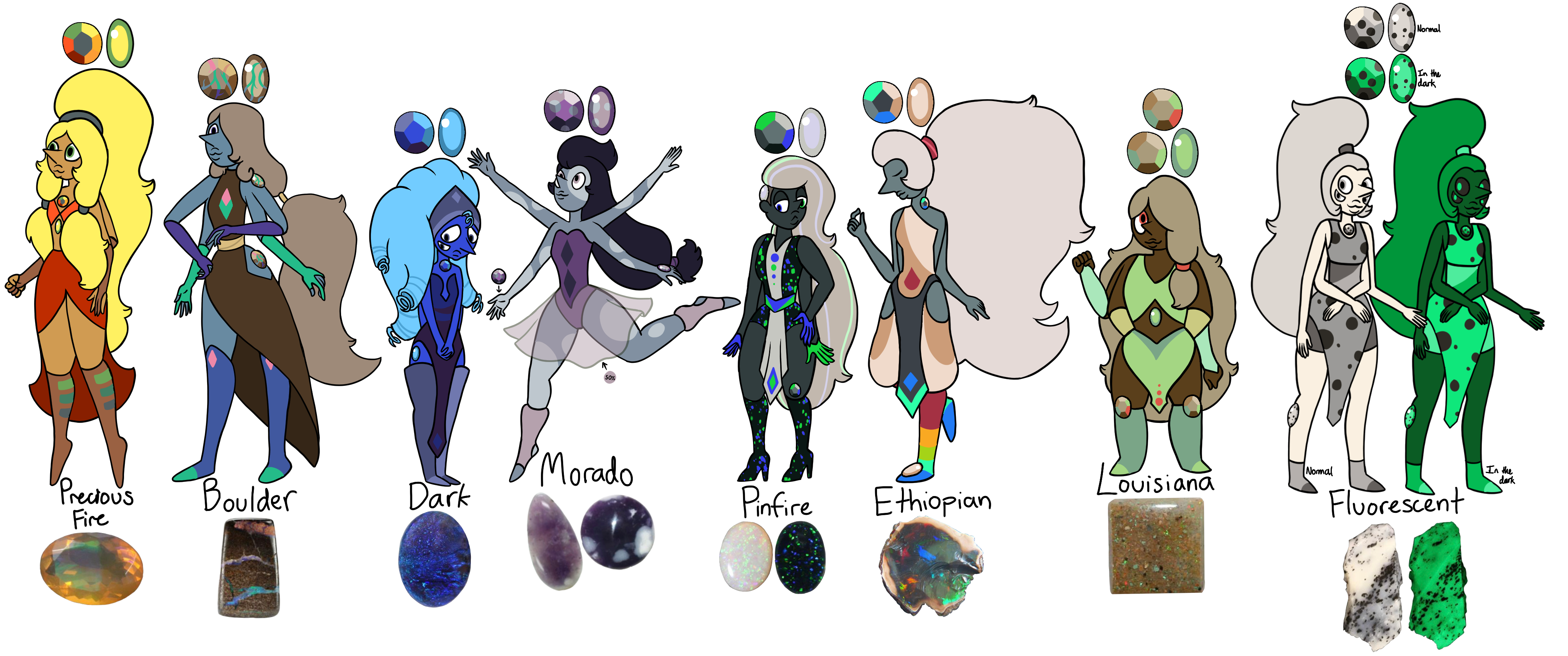 Boulder drawing shaded. Opal adopts closed by