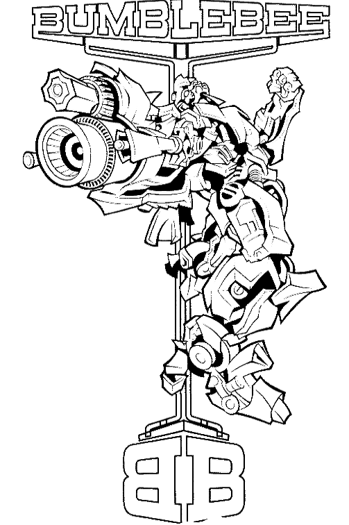 Boulder drawing transformer. Transformers bumblebee coloring page