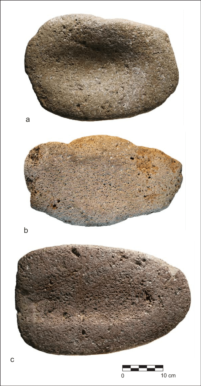 Boulder transparent feature. Metates from early