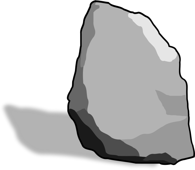 Boulder vector clipart. Stone pencil and in