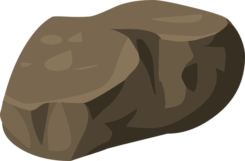 Boulder vector pile rock. Collection of free granate