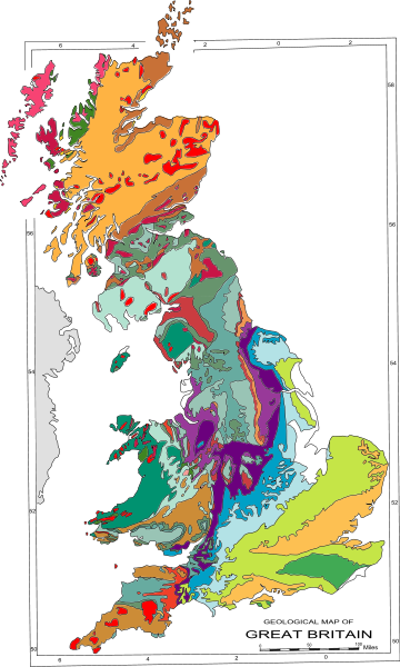Boulder vector rock formation. Geology of great britain