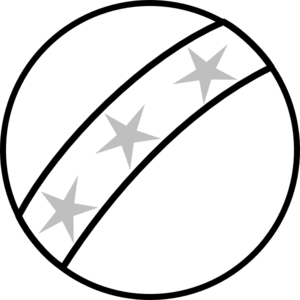 Bounce clipart cricket ball. Black and white toy