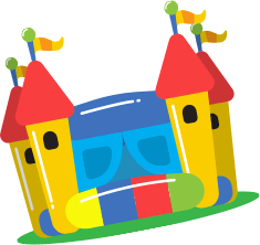 Bouncy castle png. Princess with slide x