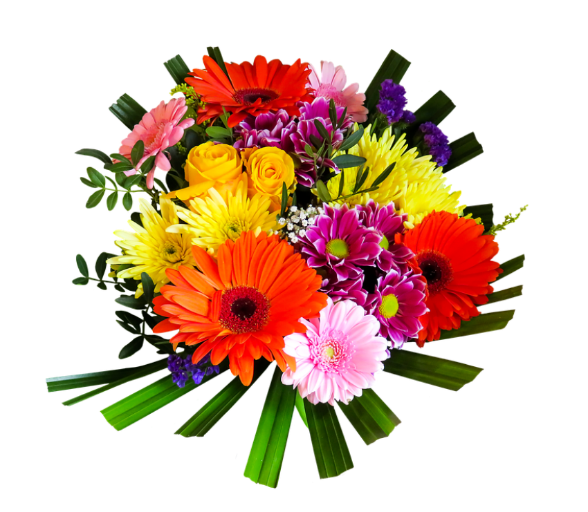 Flower cluster png. Bouquet of flowers free