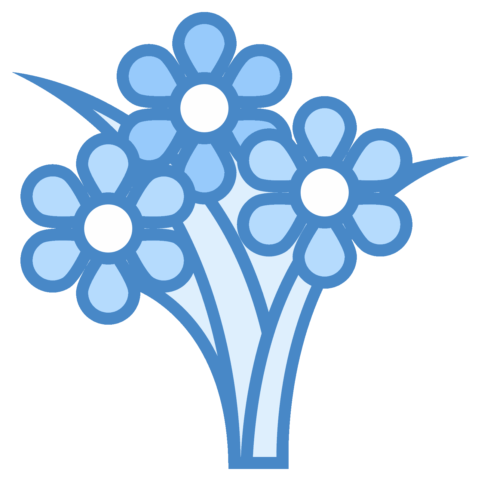 Bouquet vector flat. Flower icon free download