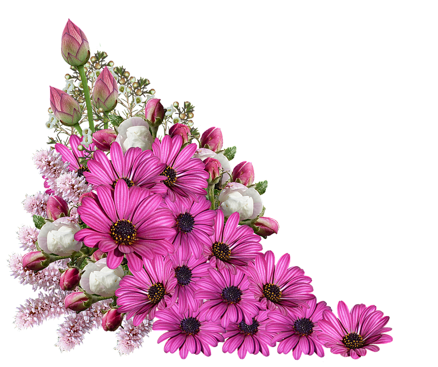 Bouquet of pink flowers png. Tiny transparent images pluspng
