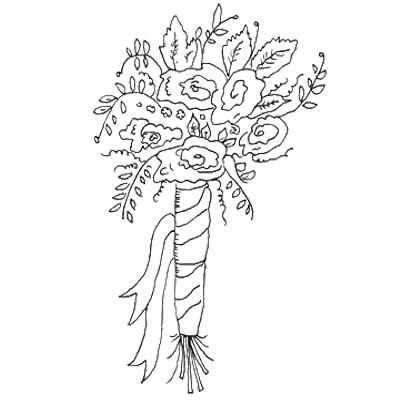 Bouquet outline png. Bridal drawing at getdrawings