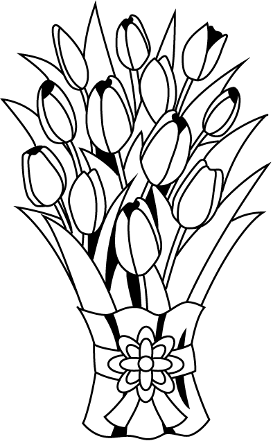Bouquet outline png. Collection of flower