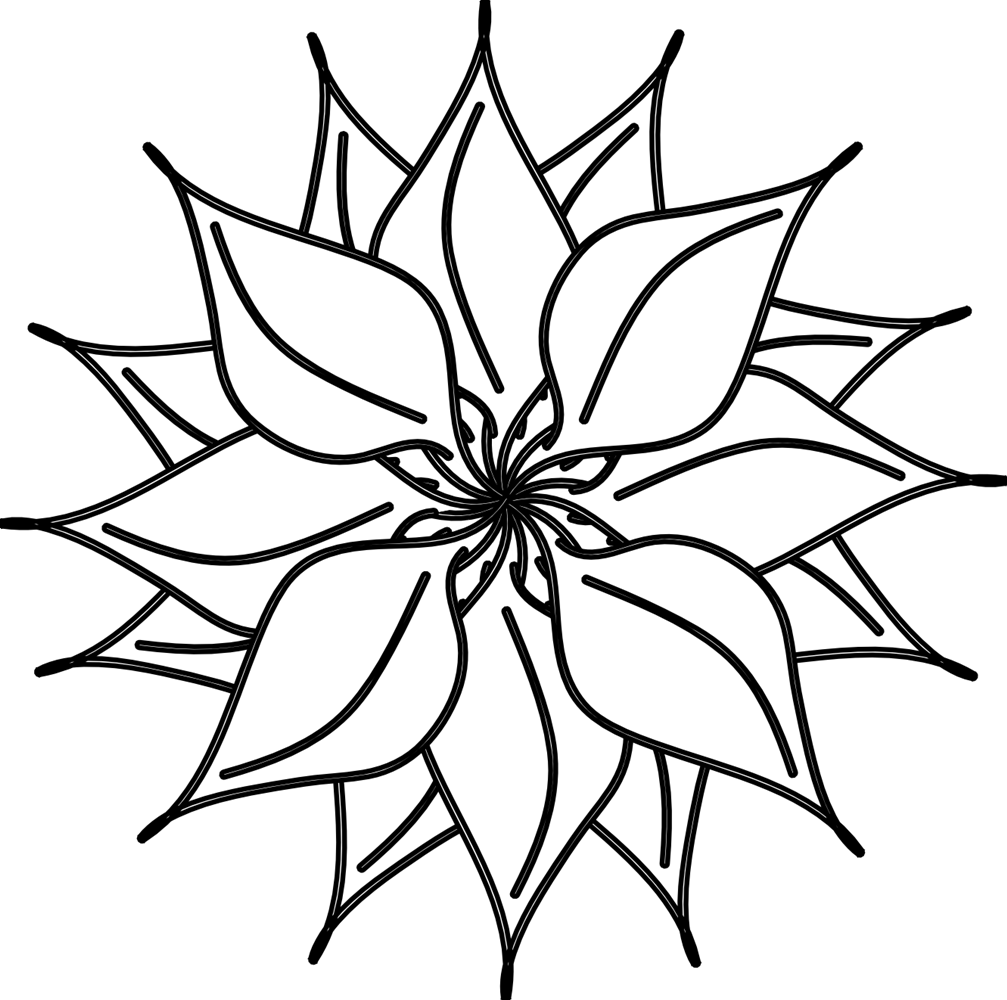 Bouquet outline png. Flower black and white