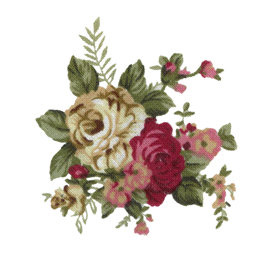 Vintage flowers tumblr png. Image static flower print