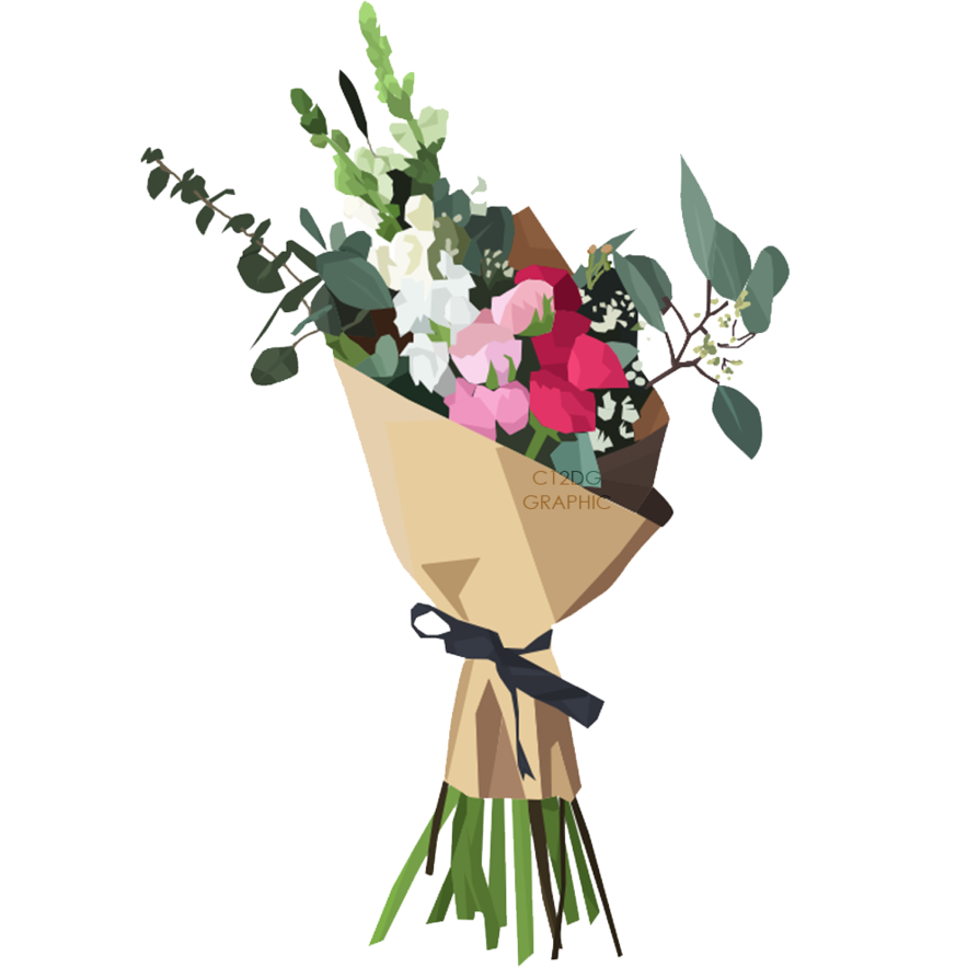 Bouquet vector artistic flower. Of flowers png image