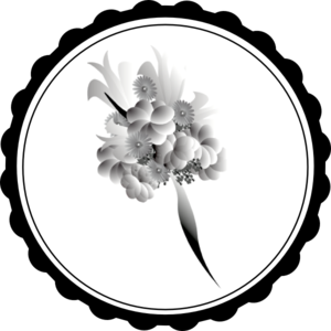Bouquet vector black and white. Clip art at clker