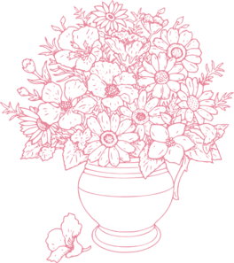Bouquet vector clip art flower. Of flowers at clker