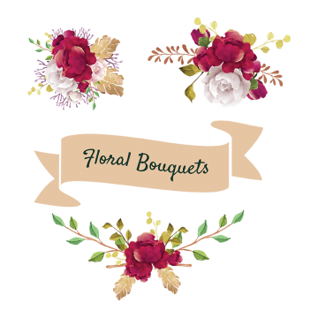 Vintage flowers bouquet png