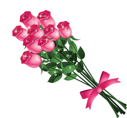 Vector bouquet rose. Download transparent pink roses