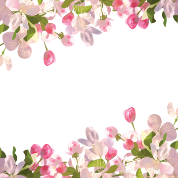 Spring vectors psd and. Flowers png transparent background clip library