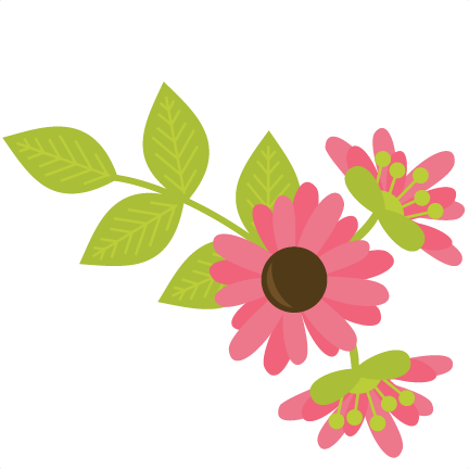 Frames svg floral. Flowers with vine files