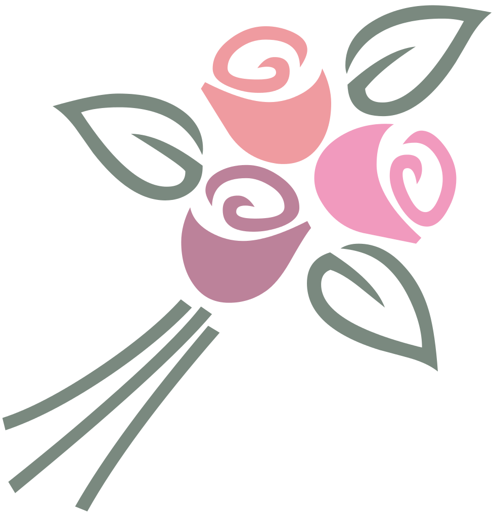 Bouquet vector svg. File of roses wikimedia