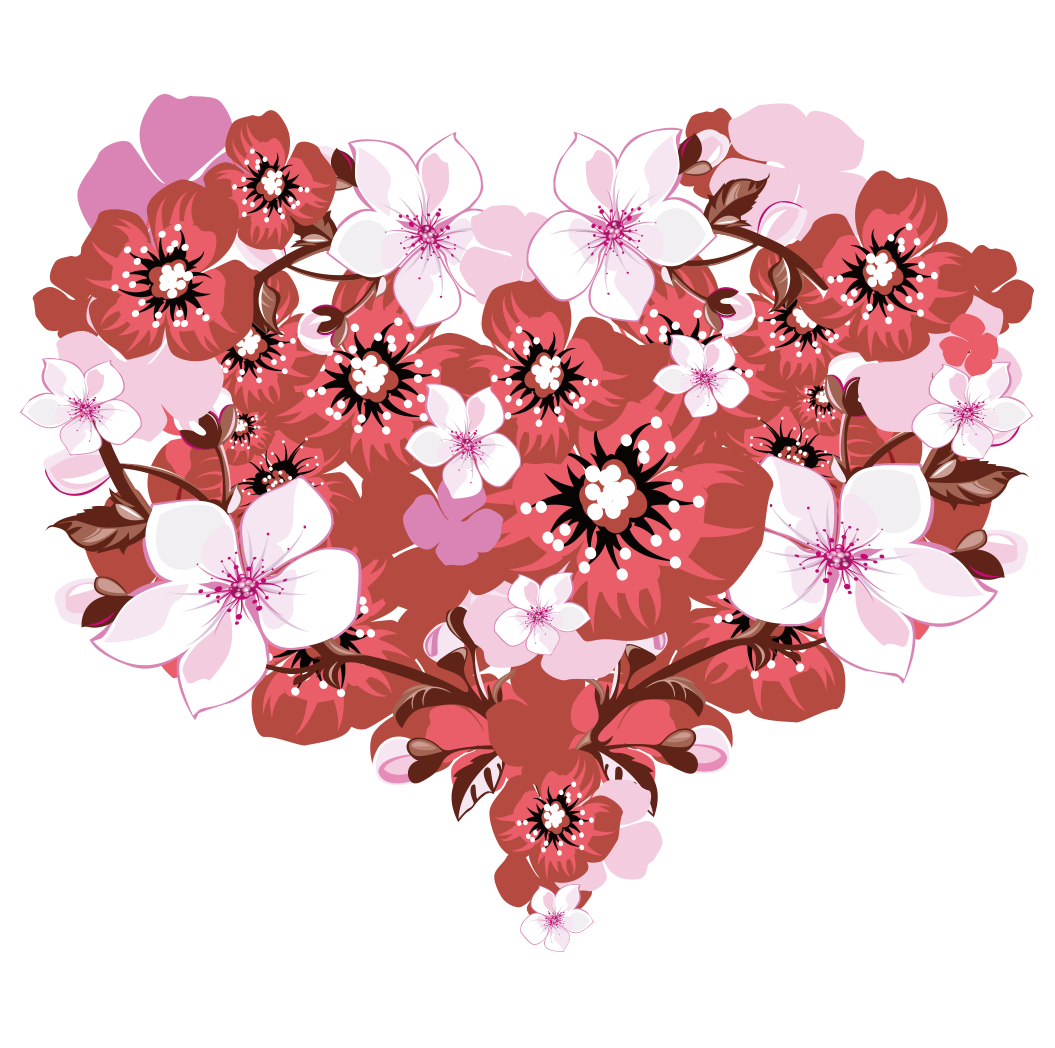 Bouquet vector valentine flower. Heart valentines day greeting