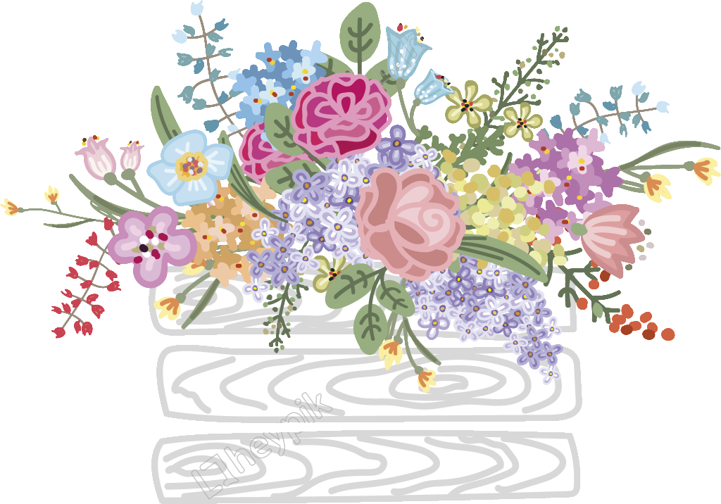 Vector bouquet wedding. Colorful decoration free download