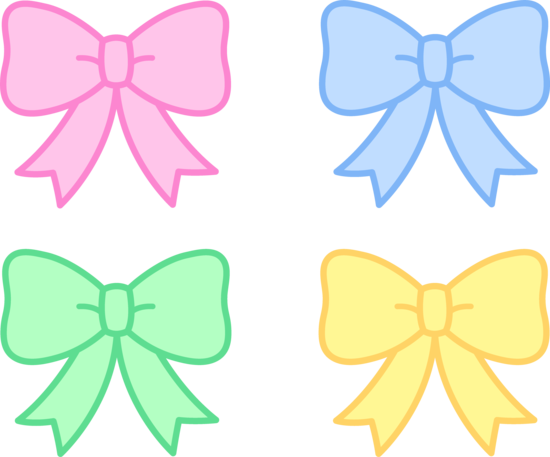 Bows clipart. Pink hair girly bow