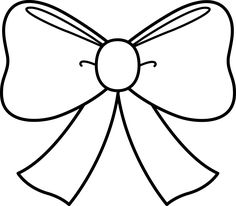Bows clipart. Cheer bow outline drawing