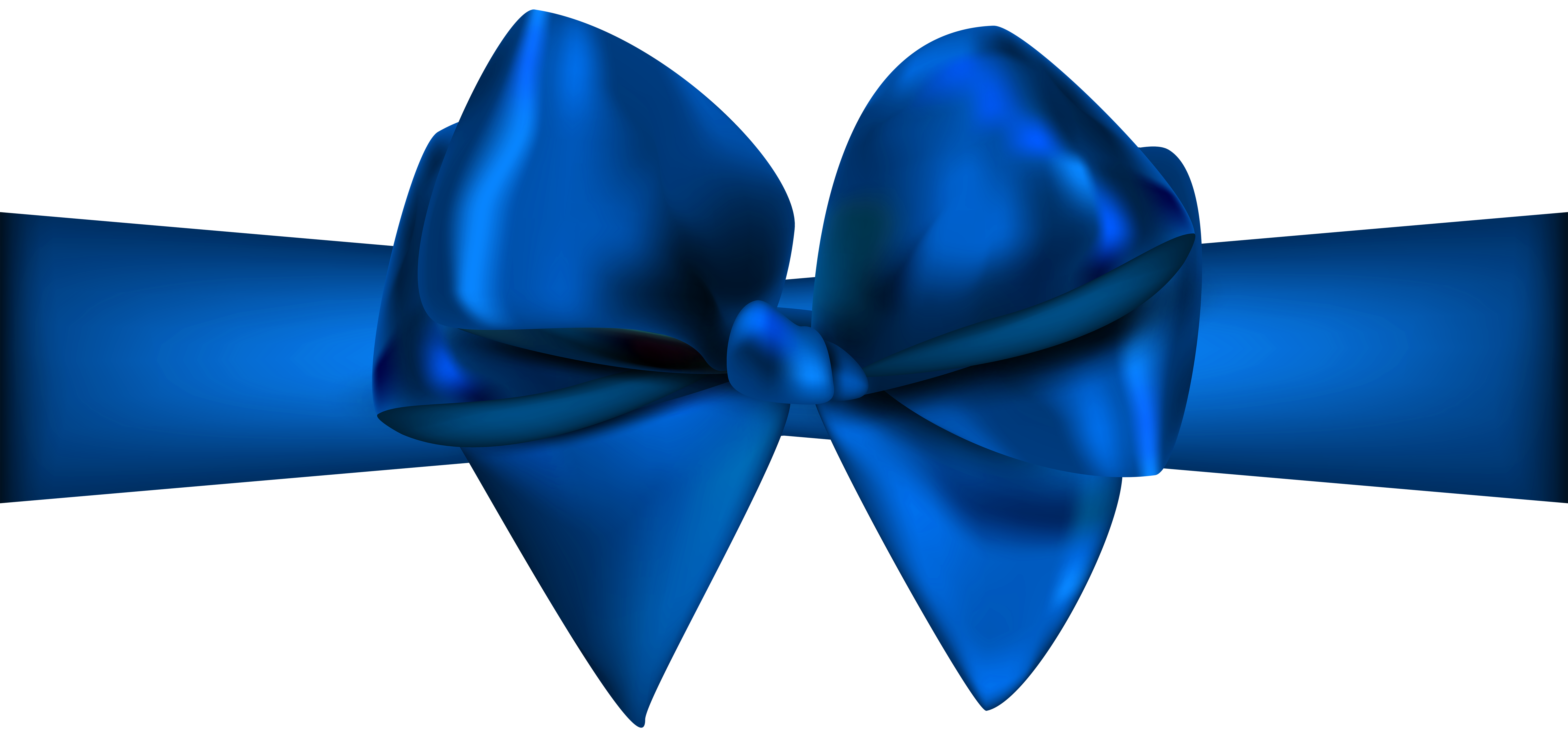 Ribbon with bow png. Blue clip vector transparent