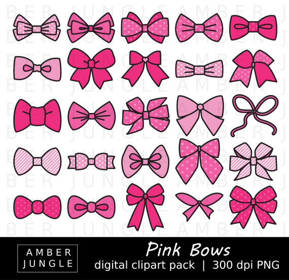 Bow clipart hair bow. Pink bows images instant