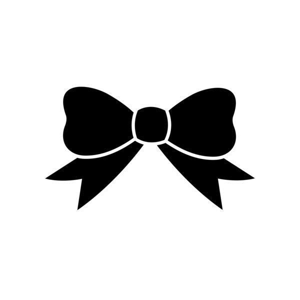 Bow clipart little bow. Black ribbon silhouette free
