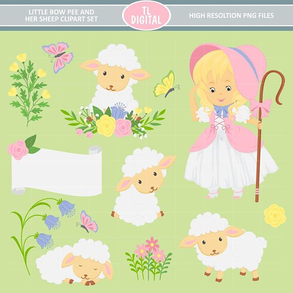 Bow clipart little bow. Peep and her sheep