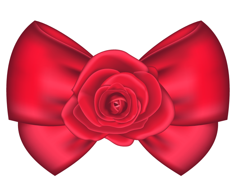 Bow clipart png. Decorative with rose picture