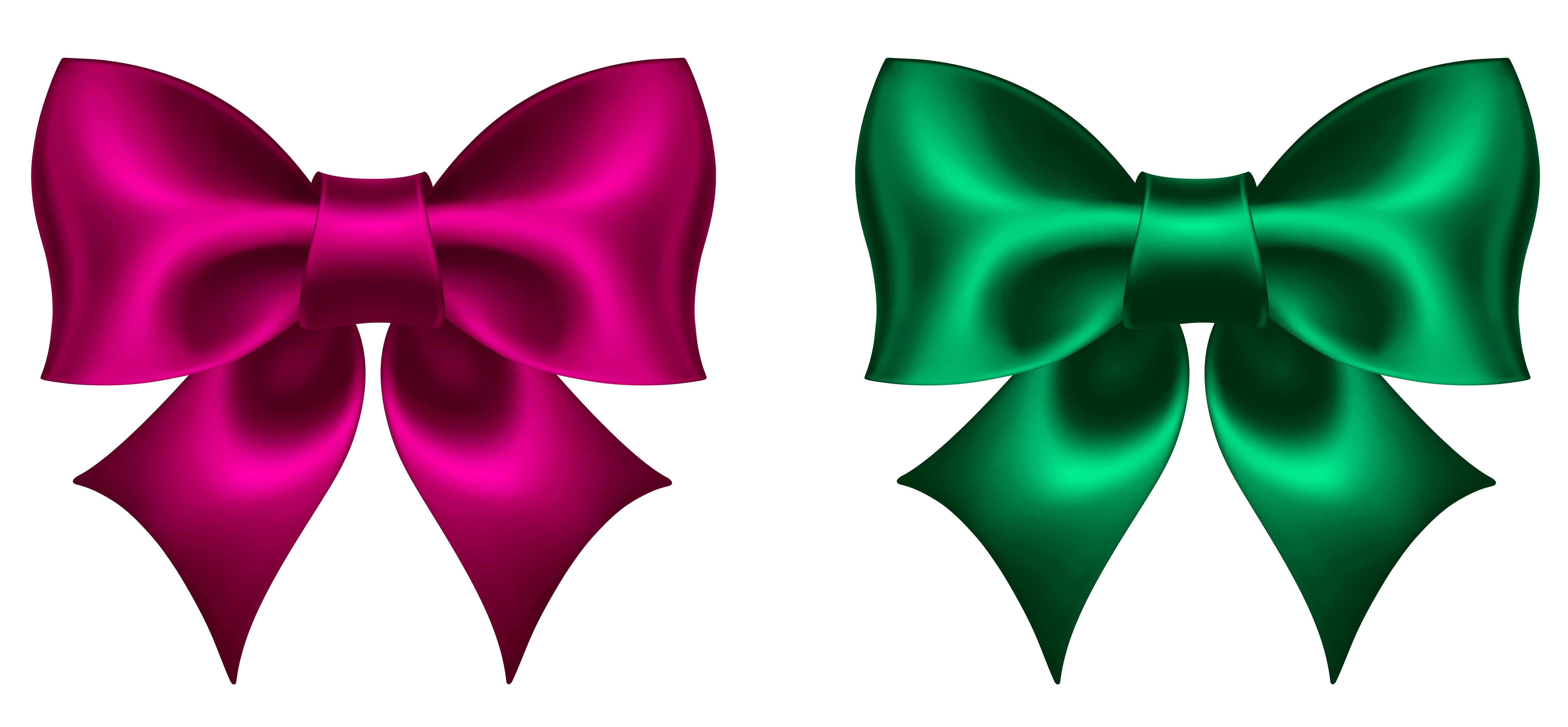 Bow clipart png. Pink and green picture