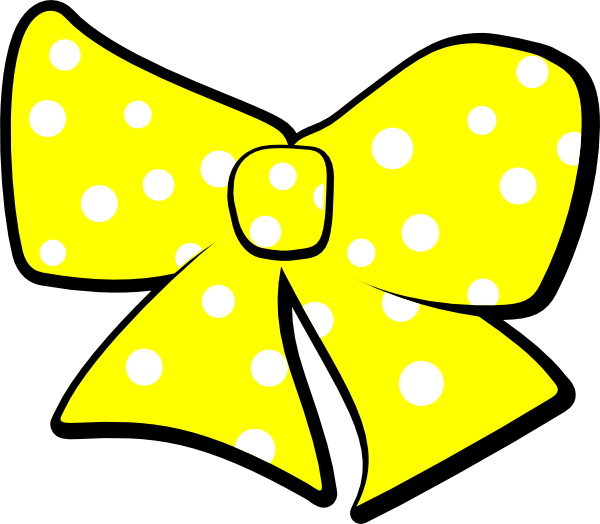 Bow clipart polka dot. With dots clip art