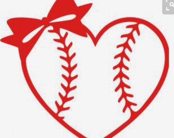 Bow clipart softball. Decal etsy more colors