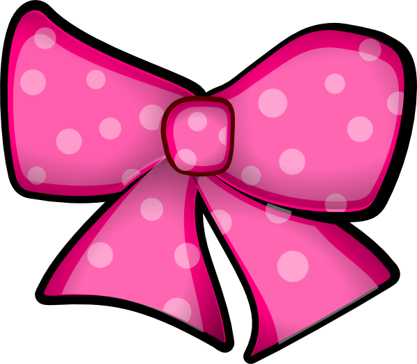 A34 clip artbyjean. Pink bow clipart free