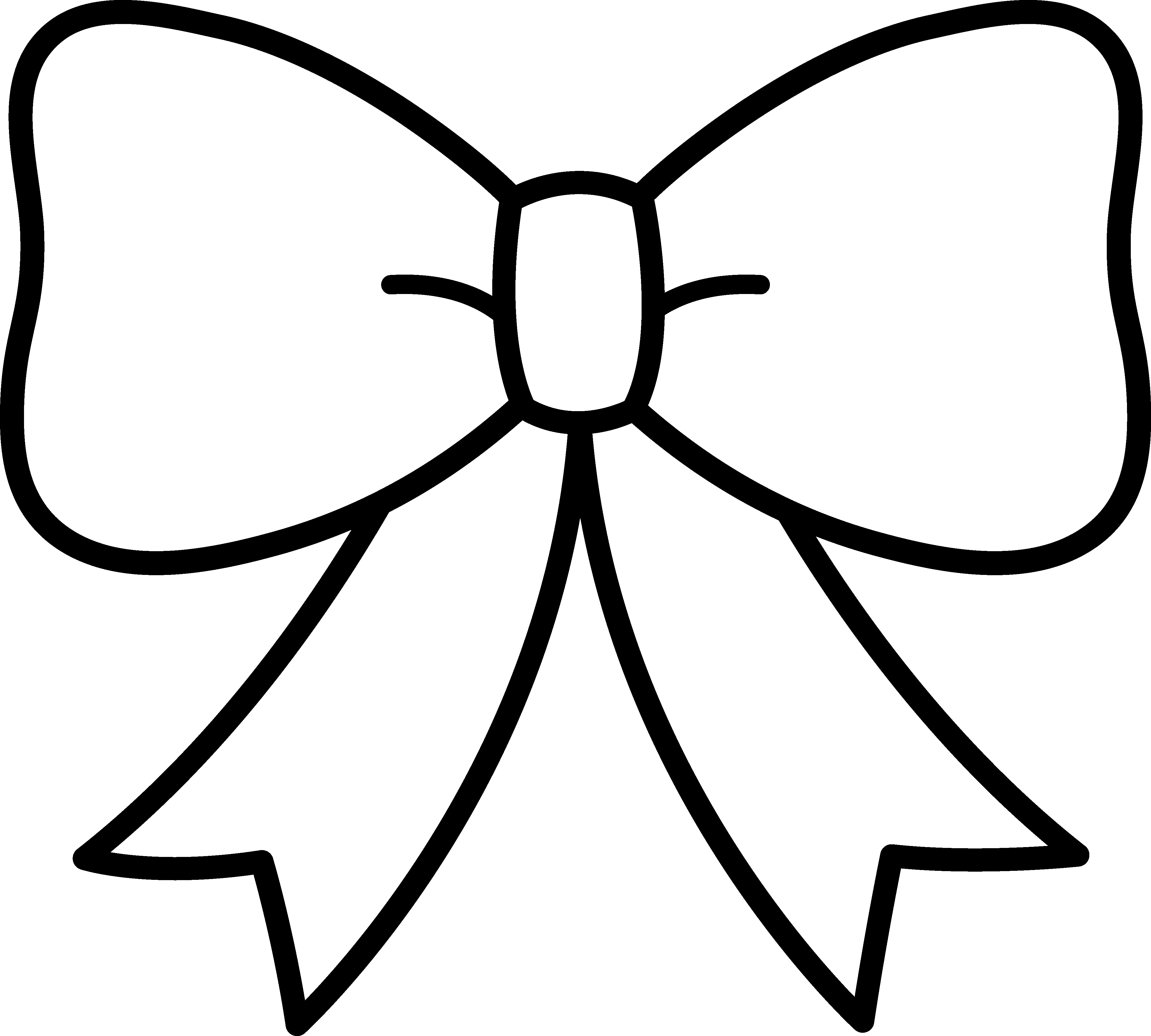 Drawing items bow. Clipart black and white