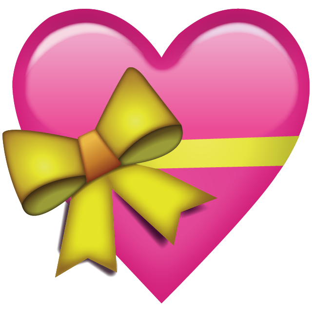 Yellow heart emoji png. Download pink with ribbon