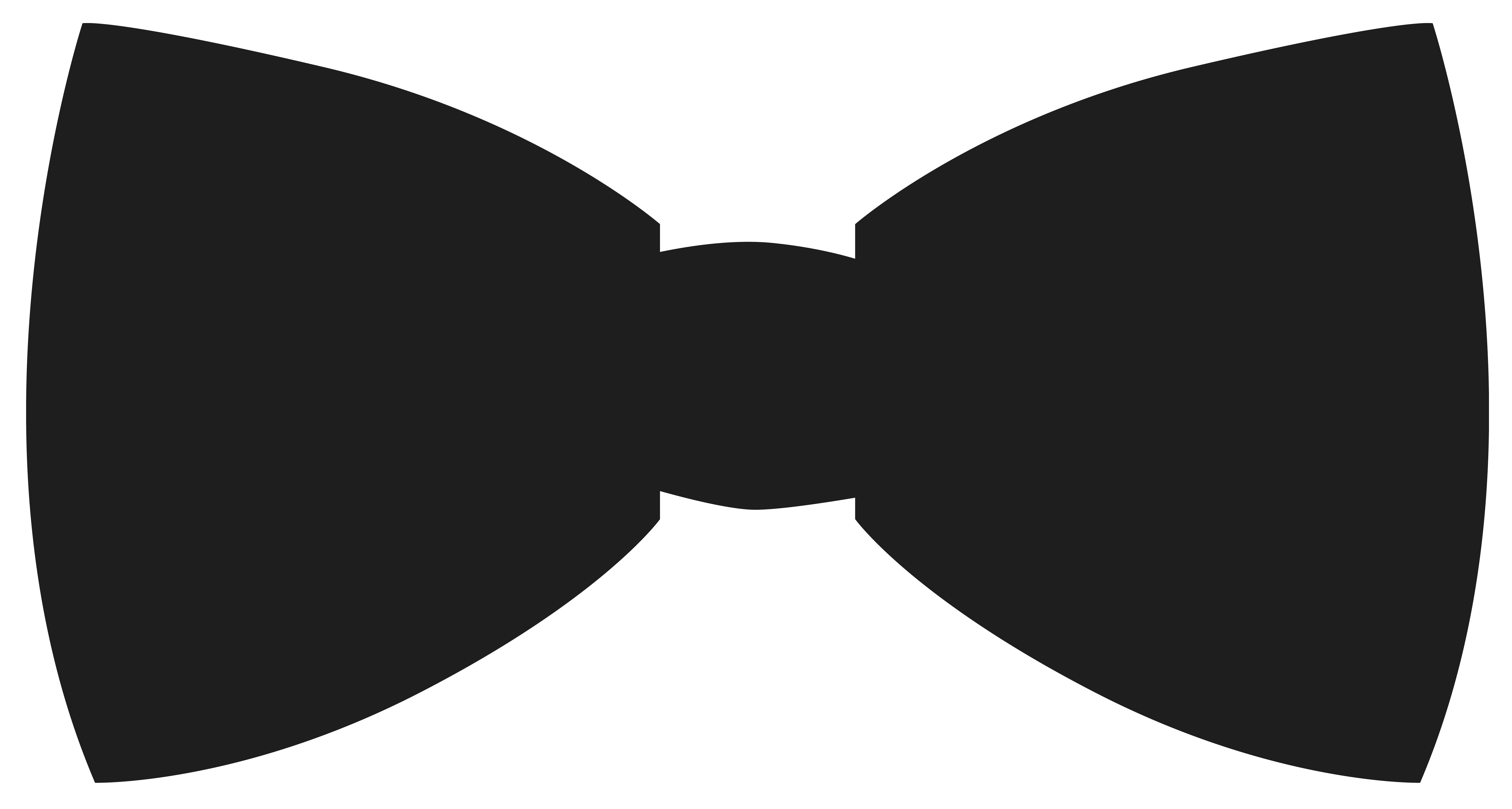 Bow tie silhouette png. Movember bowtie clipart image