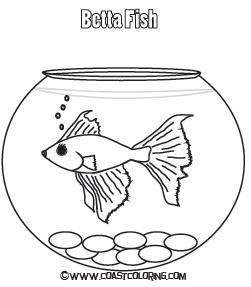Bowl clipart colouring. Fish coloring pages getcoloringpages